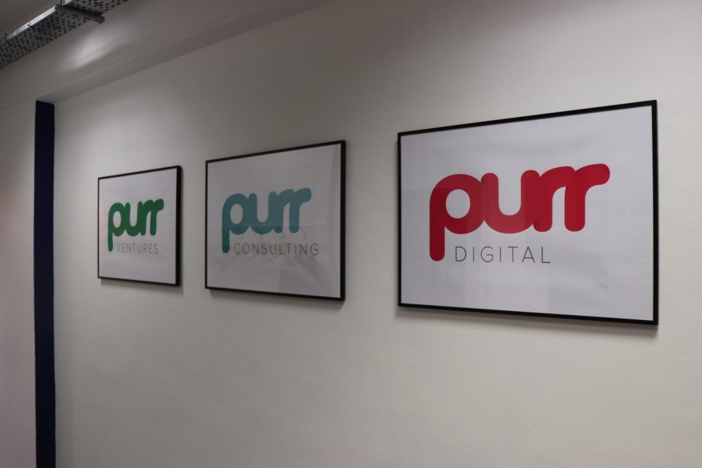 London Office - Purr brands on the wall