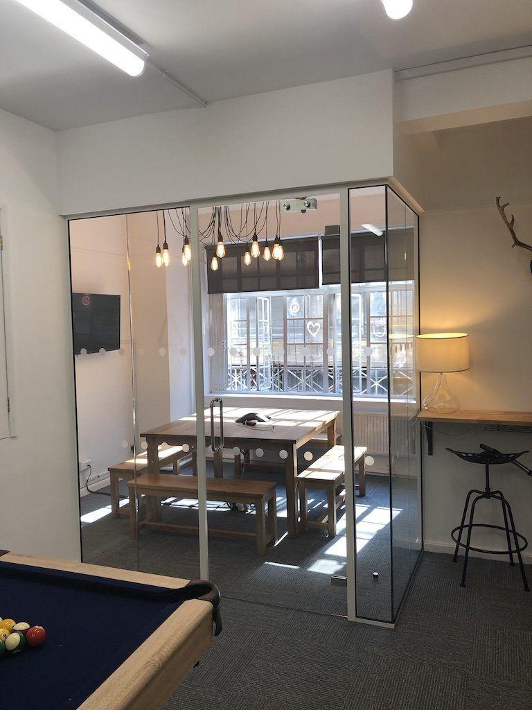 London Office - Glass breakout room