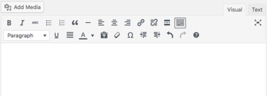 Gutenberg beginings - TinyMCE